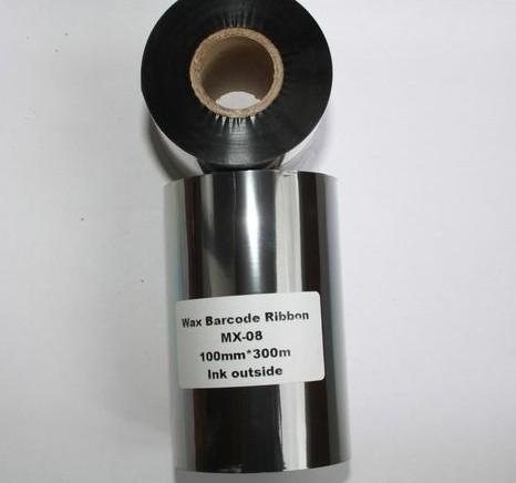 Риббон Wax 100 мм x 300 м, втулка Ø26 мм, черный