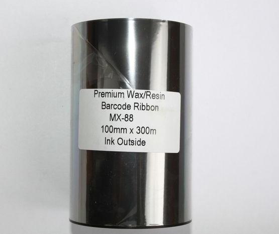 Риббон Wax/Resin Premium 100 мм x 300 м, втулка Ø26 мм, черный