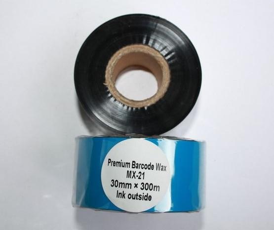 Риббон Wax Premium 30 мм x 300 м, втулка Ø26 мм, черный