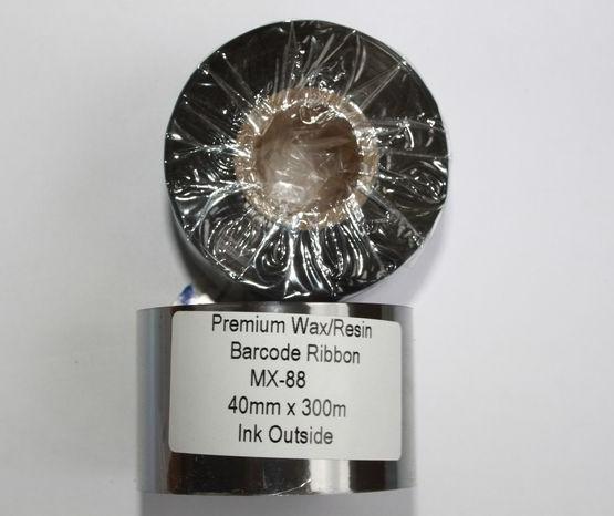Риббон Wax/Resin Premium 40 мм x 300 м, втулка Ø26 мм, черный
