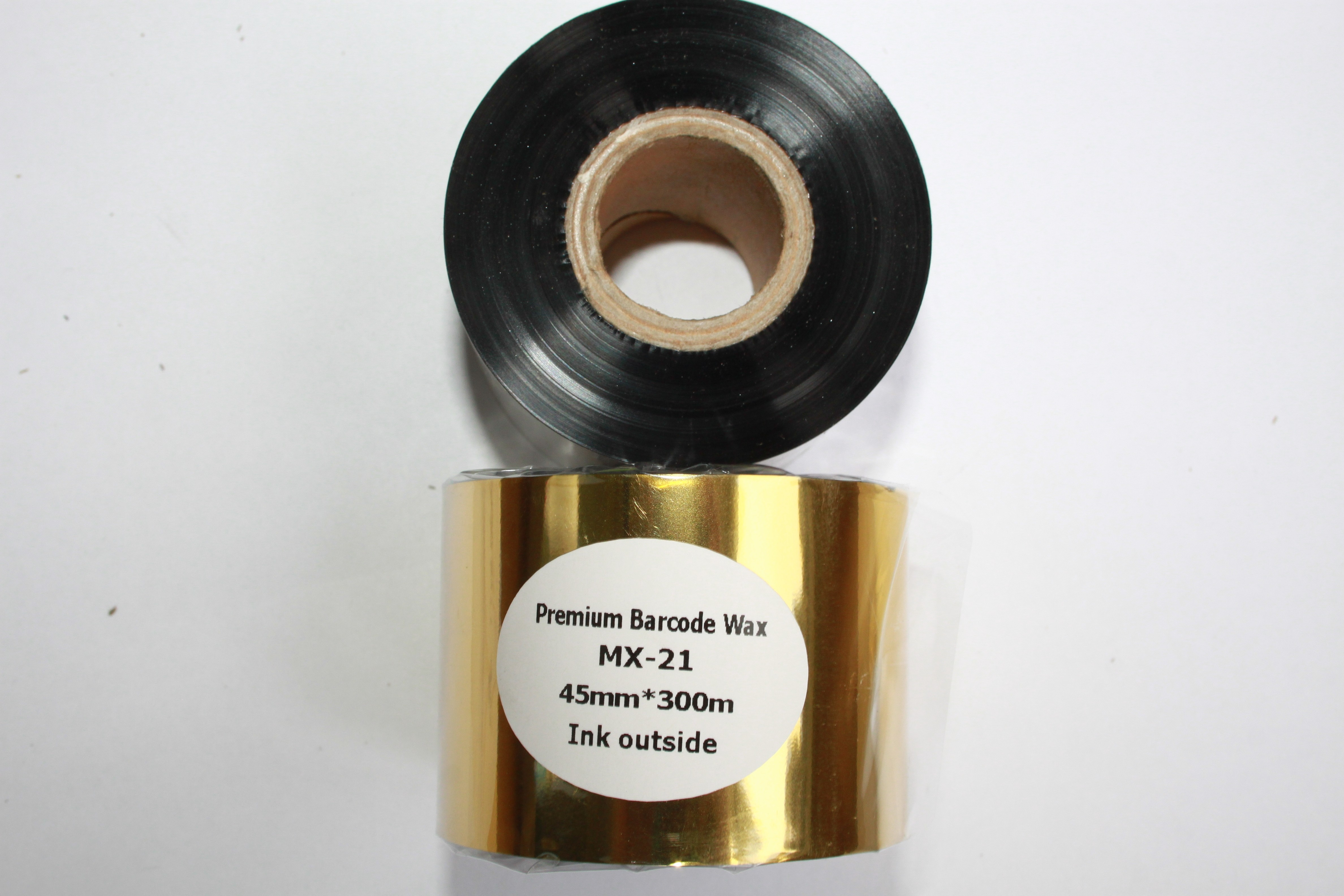 Риббон Wax Premium 45 мм x 300 м, втулка Ø26 мм, черный