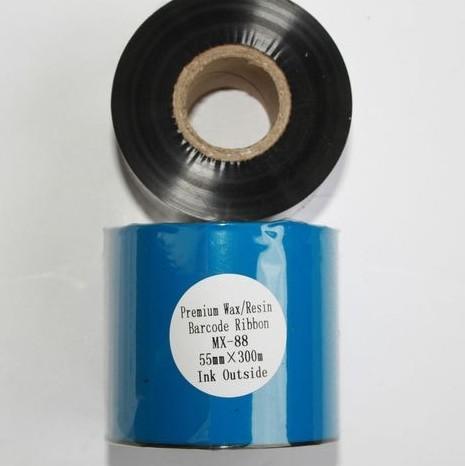 Риббон Wax/Resin Premium 55 мм x 300 м, втулка Ø26 мм, черный
