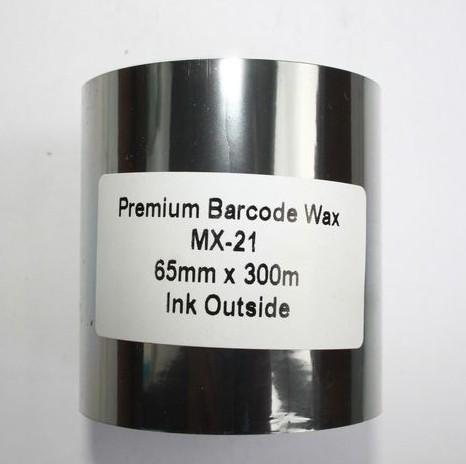 Риббон Wax Premium 65 мм x 300 м, втулка Ø26 мм, черный