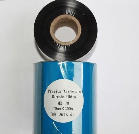 Риббон Wax/Resin Premium 70 мм x 300 м, втулка Ø26 мм, черный