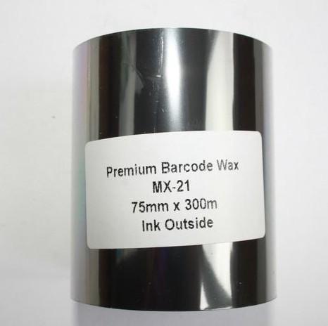 Риббон Wax Premium 75 мм x 300 м, втулка Ø26 мм, черный