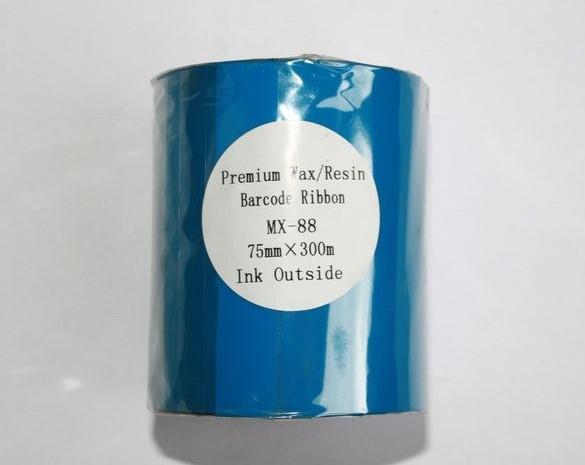 Риббон Wax/Resin Premium 75 мм x 300 м, втулка Ø26 мм, черный