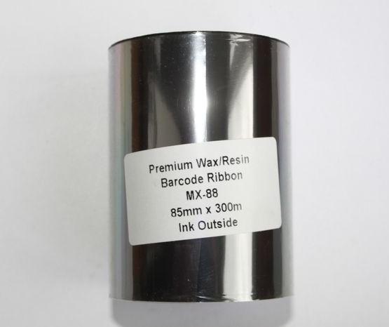 Риббон Wax/Resin Premium 80 мм x 300 м, втулка Ø26 мм, черный