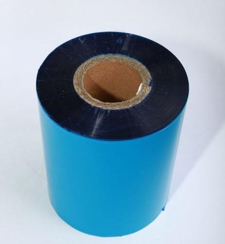 Риббон синий Wax/Resin 75 мм x 300 м, втулка Ø26 мм