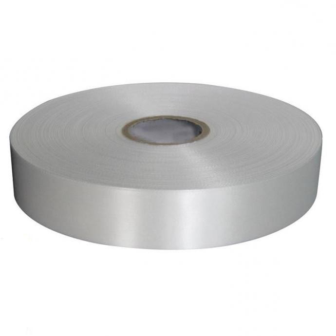 Тестильная лента, Сатин белый 50мм*183м